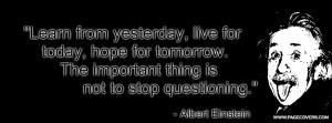 Albert Einstein Quote Cover Comments