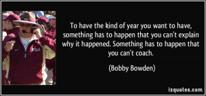 kind of year you want to have, something has to happen that you can ...