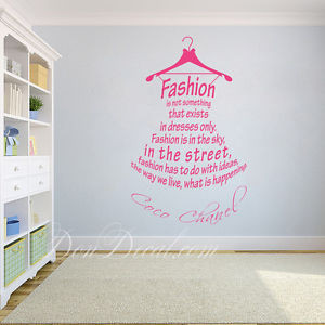 ... Words / Fashion Icon Quote Wall Art Stickers / Living Room Wall Decal