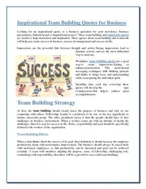 Inspirational Team Building Quotes for Business screenshot