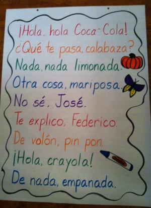 De nada, empanada: Spanish Rhyming Phrases