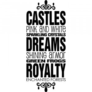 Fairy Tale Quote Wall Sticker Fairy Tale Wall Decal Art gallery image