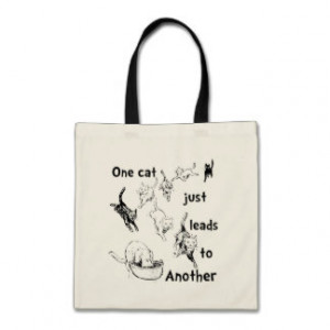 Funny Cat Tote Bag Cute Cat Lover Quote