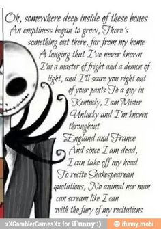 Back > Quotes For > jack skellington sally quotes