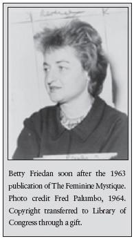 feminine mystique betty friedan essay Chapter 5 from betty friedan's epoch-making 'feminie mystique', on freud.