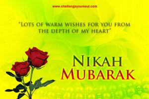 Nikah Mubarak (Warm Wishes Marriage Couple Bride Groom)