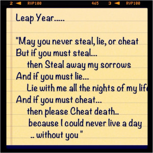Great quote from movie Leap Year ..