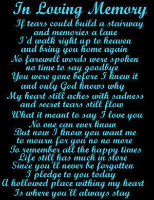 All Graphics » IN LOVING MEMORY