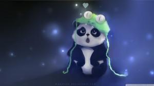 Cute Panda Painting Wallpaper 1920x1080 Cute, Panda, Painting