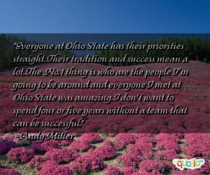 Everyone at Ohio State has their priorities