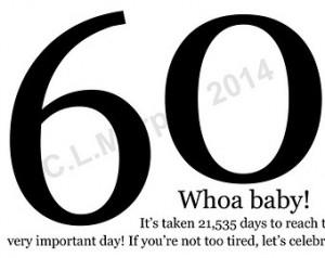 ... Birthday, Milestone Birthday, Humor Birthday, 60th Birthday Card
