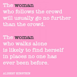 Quote of the day: The woman