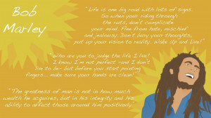 Bob Marley Quotes And Cartoon Wallpaper by xXnot4freeXx