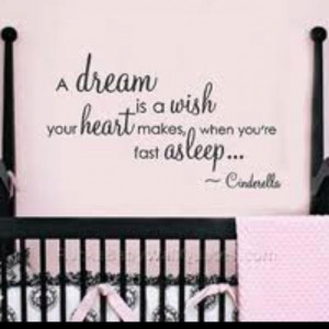If i ever have a little girl! Princess wall quote