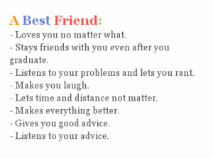 This is what a best friend truly is.