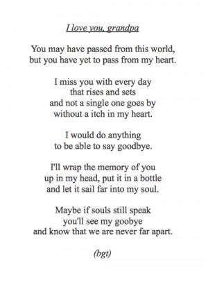 grandpa in heaven poems