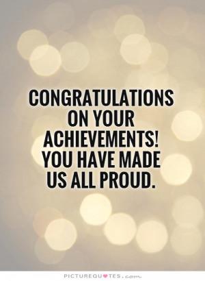 Congratulations Quotes Achievement Quotes Proud Quotes Good Job Quotes ...