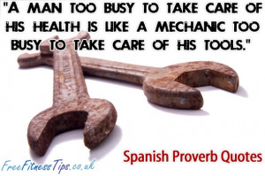 Man Too Busy To Take Care Of His Health Is Like A Mechanic Too ...