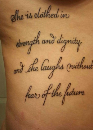 First tattoo #quote #script #ribcage
