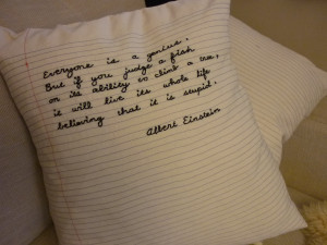 ... just turn the pillows over, since the backside of each is quote-less