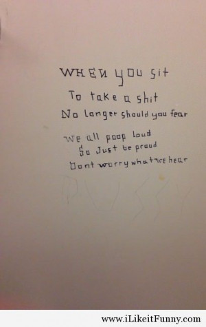 best bathroom stall poem quotes funny picture