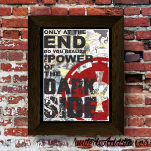 Star Wars - The Dark Side Quote Upcycled vintage comic book art print ...
