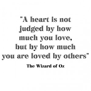 Heart is not Judged by... Wizard of Oz Quote Vinyl Wall Decal