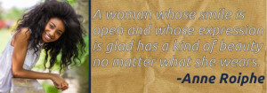 Woman's smile quote
