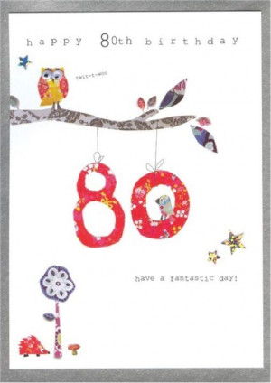 80th Birthday Cards – Walk in the Park