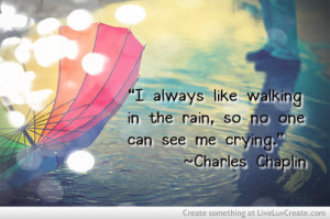 cute, in the rain, pretty, quote, quotes, rain sad