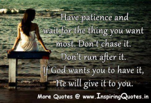 Patience Quotes, Best Thoughts about Patience , Famous Sayings on ...