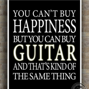 Guitar Inspirational Quote Poster, guitarist, Happiness, musi... More