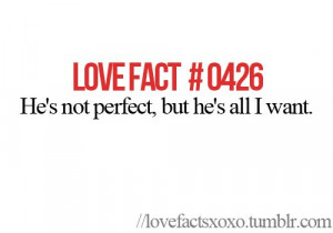He's perfect for me