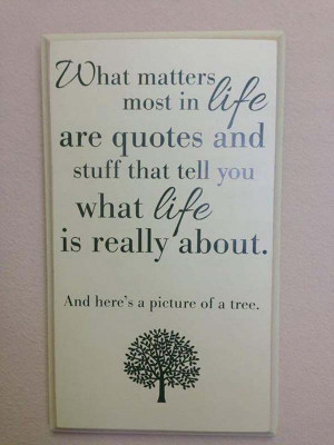 sarcasm quotes and a tree