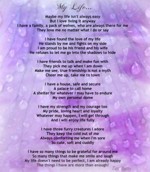 Inspiring poem called my-life