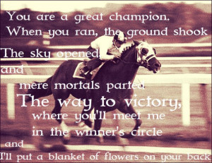 You are a Great Champion, When you ran the ground shook…