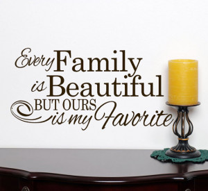 Beautiful Quotes On Family Every family is beautiful but