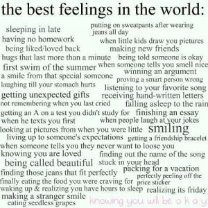 great feelings