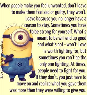 Quotes Fans Sad Minions Quotes