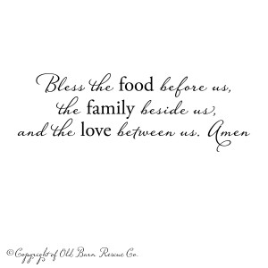 Bless the food before us...vinyl wall decal from Old Barn Rescue ...
