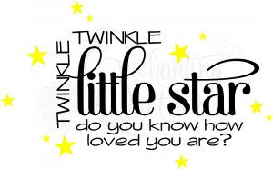 Twinkle Twinkle Little Star Nursery Wall Quote
