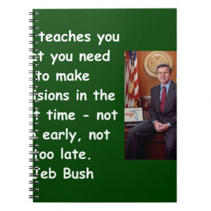 Jeb Bush quote Spiral Note Books