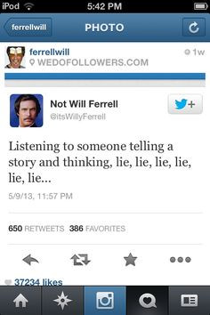 Not Will Ferrell Tweets Hilarious will ferrel quotes