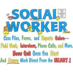 Social Works many talents poster on my office wall- must have More