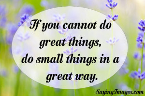 Do Small Things In A Great Way: Quote About Small Things Great Way ...