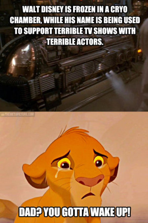 Wake up, mister Disney…