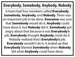 Everybody, Somebody, Anybody, Nobody…