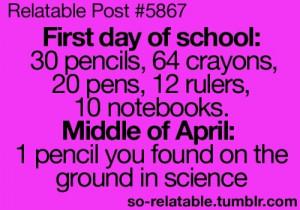 day of schoolMiddle Schools, My Schools Life, Schools Supplies, Funny ...