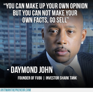 "... , go sell"" - Daymond John Founder of Fubu 