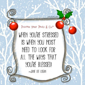 WHEN YOUR STRESSED....